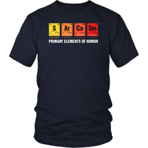 Science T-Shirt Sarcasm S Ar Ca Sm Primary Elements of Humor