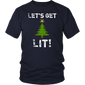Let's Get Lit Christmas Shirt