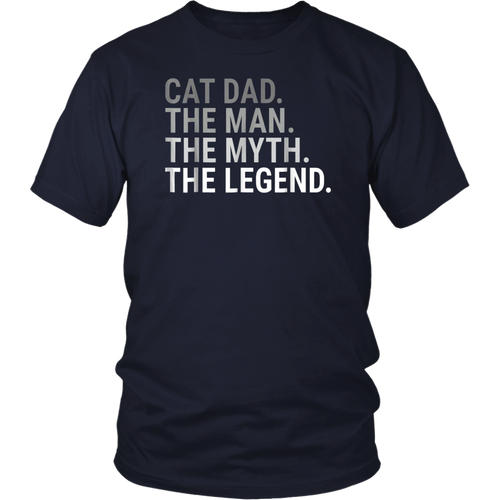 Cat Dad The Man The Myth Legend Shirt