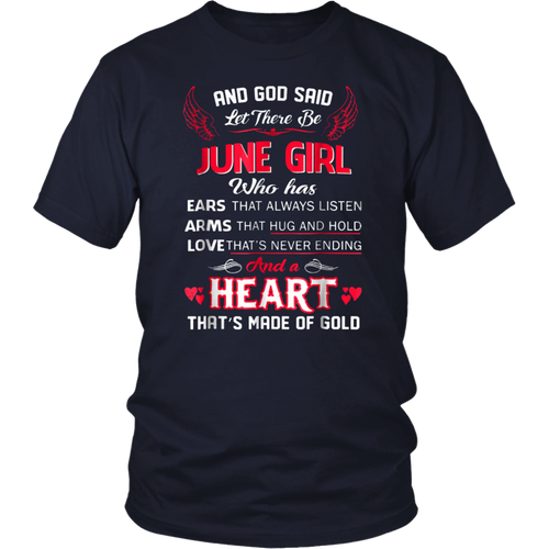 And God Said Let There Be June Girl TShirt
