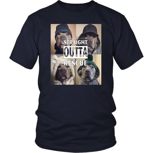 Straight Outta Rescue Pitbull T-Shirt