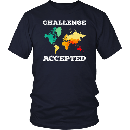 Challenge Accepted Map T Shirt