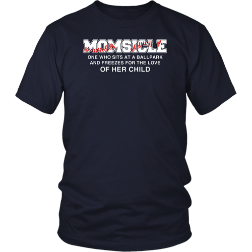 Momsicle Hockey Mom Shirts for Women Mother's Day T-shirts