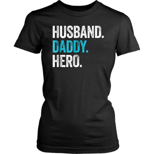 Husband daddy protector hero T Shirt cool father dad tee