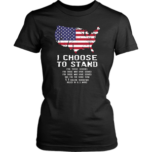 American Flag Shirt I Choose to Stand National Anthem Tee