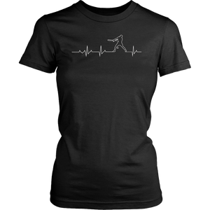 Baseball Heartbeat Tshirt Cool Gift for Sport Lovers