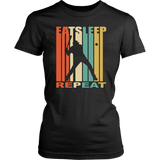 Eat Sleep Baseball Repeat T-Shirt Funny Sport Game Gift