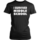 I Survived Middle School Class Of 2018 Graduation T-Shirt