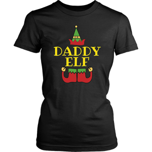 Daddy Elf T-Shirt Funny Matching Christmas Costume Shirt