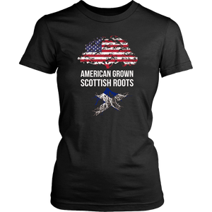 American Grown Scottish Roots Distressed Flag Scotland shirt