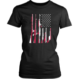USA Flag of Guns TShirt Cool Second Support Patriotic Gift