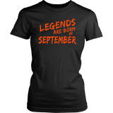 Legends Are Born In September TShirt