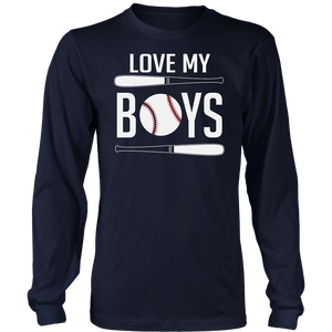 Love My Boys Mom And Dad Baseball T-Shirt