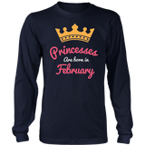 Princesses Are Born In February T-Shirt