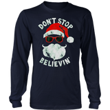 Don't Stop Believing Santa TShirt