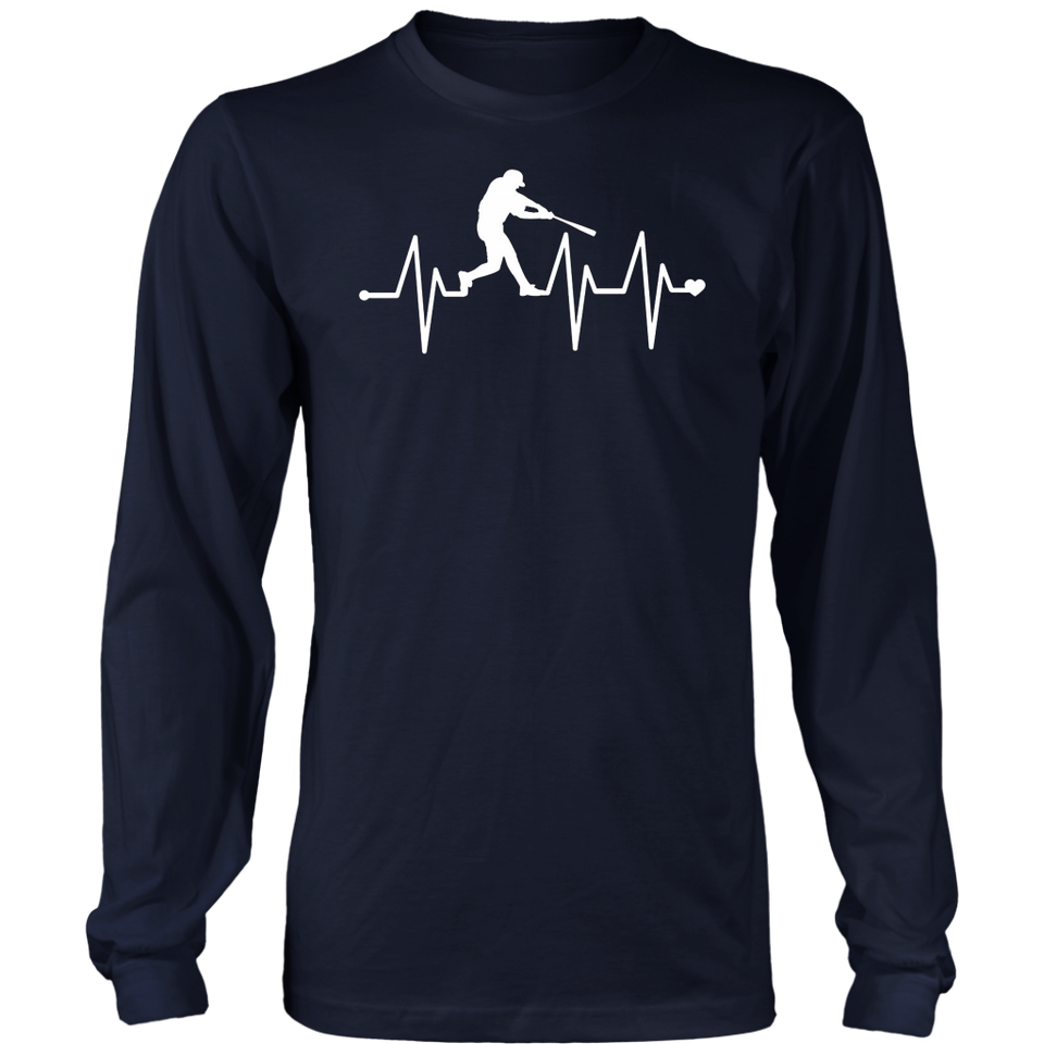 Baseball Heartbeat Pulse Shirt