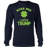 Kiss Me I Voted Trump St. Pats Shirt