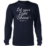 Let Your Light Shine Shirt Cute Christian Tee