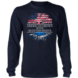 Proud Nation Gift American Grown With Scottish Roots T-Shirt