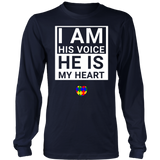 Awesome I Am His Voice He Is My Heart T-Shirt Gift