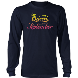Queens Are Born In September T-Shirt Birthday Gift