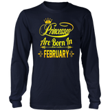 Princesses Are Born In February Shirt