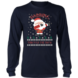 Dabbing Through the Snow Christmas Crew TShirt