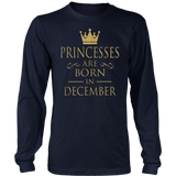 Princesses Are Born In December TShirt