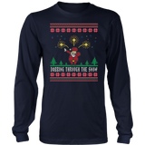 Dabbing Through The Snow Funny Christmas Dab TShirt