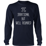 Pi Day Shirt Womens Purple Pi Irrational but Well Rounded
