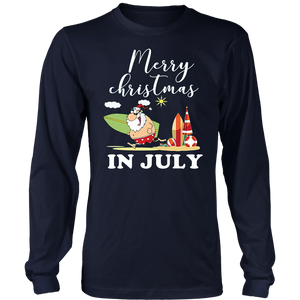 CHRISTMAS IN JULY BEACH FLAMINGO CRUISE VACATION SHIRT