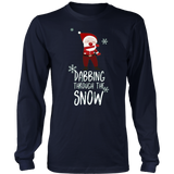 Dabbing Through The Snow Funny Christmas Dab T-Shirts