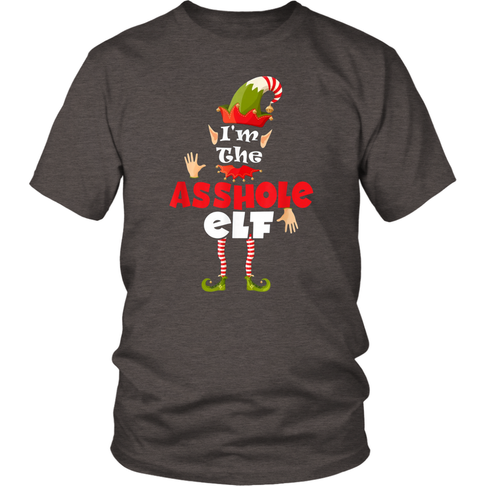 I'm The Asshole Elf Funny PJ Matching Elf Family Gift T-Shirt