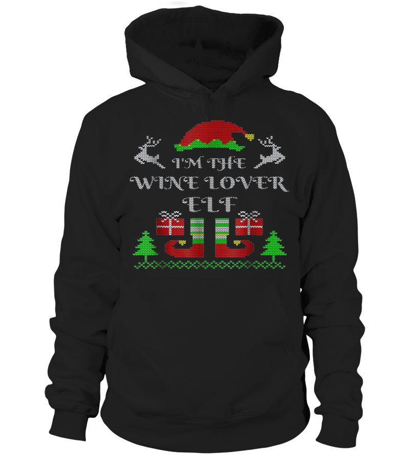 I'm the Wine Lover Elf T Shirt Christmas Family