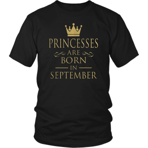 Princesses Are Born In September T-Shirt