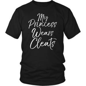 My Princess Wears Cleats Softball MOM Tshirt