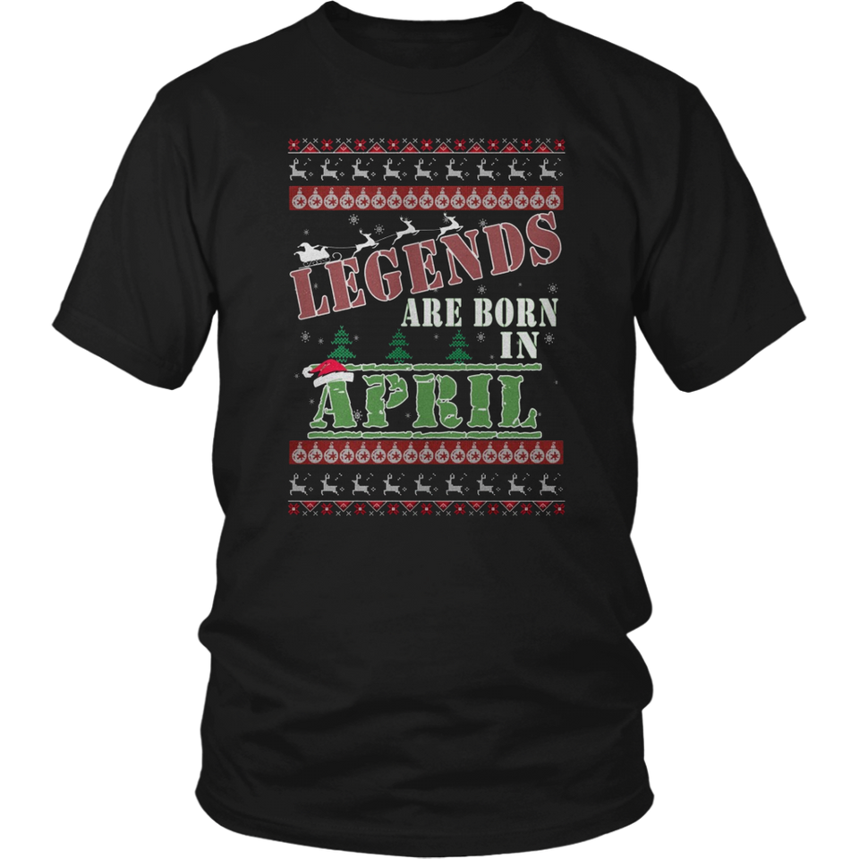 Legends Are Born in April T-Shirt Birthday Gift