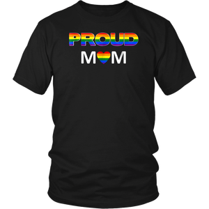 Gay Pride Shirt Proud Mom LGBT parent t-shirt Mother's Day