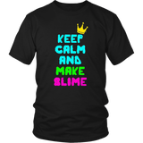 Keep Calm And Make Slime T-Shirt Funny Slime Tee kids Gift
