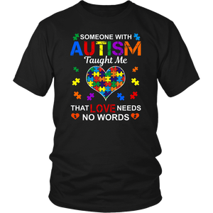 Love Needs No Words Autism Awareness Gift Tshirt