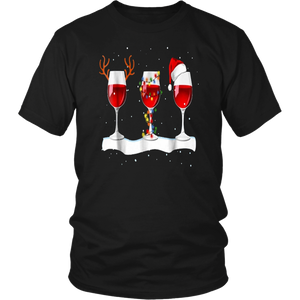 Just A Girl Who Loves Wine and Christmas Shirt