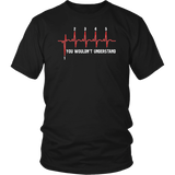 Heartbeat Motorcycle Shirt - 1 Down 5 Up T-Shirt