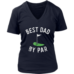 Mens Father's Day Best Dad By Par Funny Golf Lover Gift T-Shirt