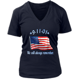 9-11 Memorial T-shirt with American Flag