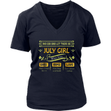 And God Said Let There Be July Girl Shirt Birthday TShirt