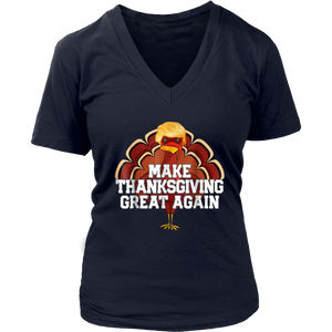 Make Thanksgiving Great Again Shirt Funny Turkey Trump Shirt