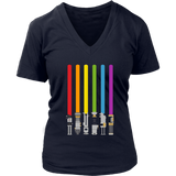 LGBT Flag Light Swords Shirt Light Saber Gay Pride Tee