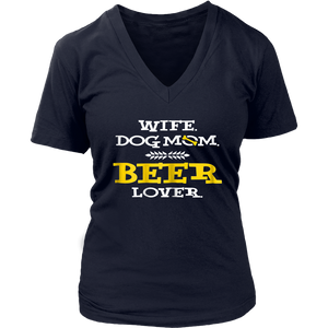 Wife Dog Mom Beer Lover Shirt Funny Mom Shirt