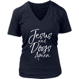Jesus And Dogs Amen Funny Christian T-Shirt