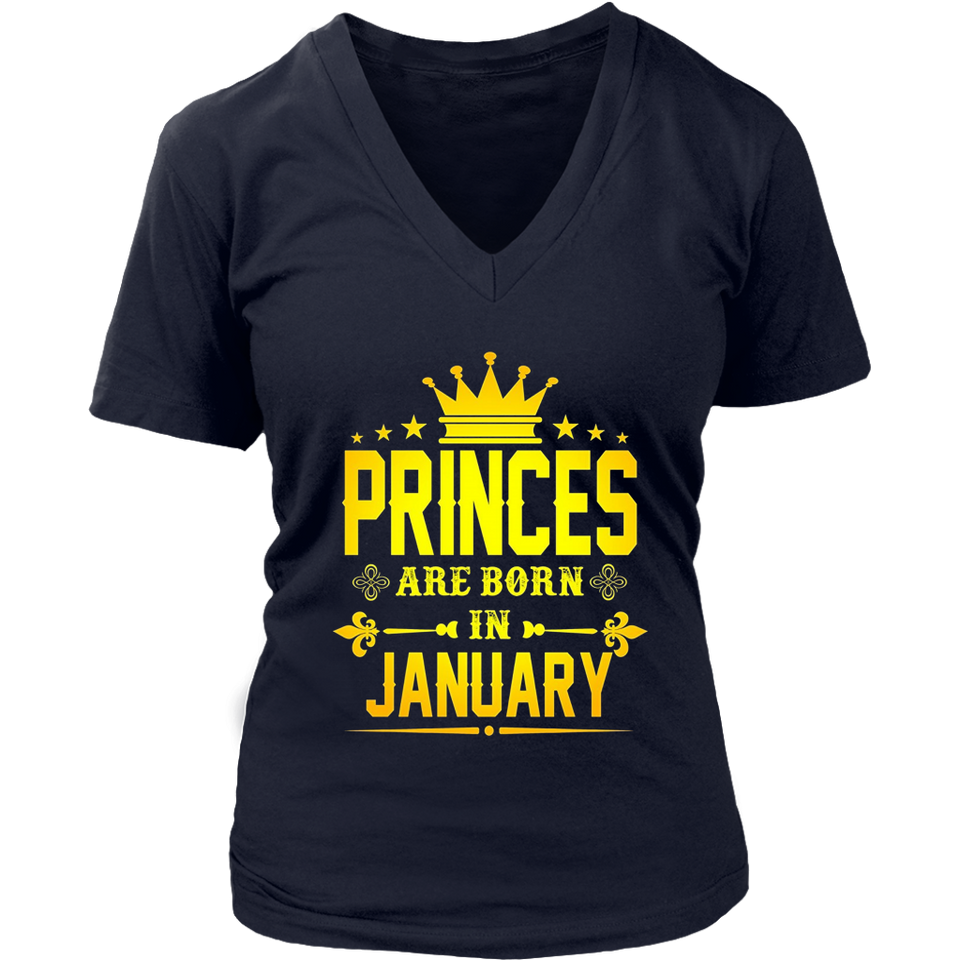 Princesses Are Born In January Shirt